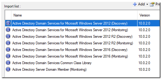 MP Update – Totally new Active Directory MP for Windows