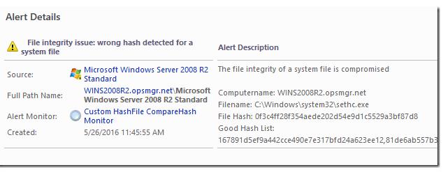 Monitoring a file hash using SCOM - Kevin Holman's Blog