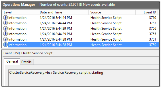 Writing a service recovery script – Cluster service example - Kevin