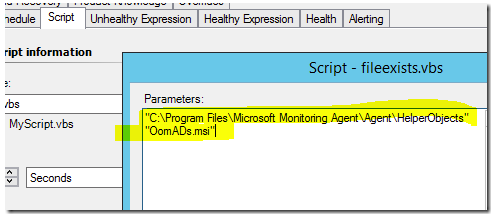 Create a script based monitor for the existence of a file