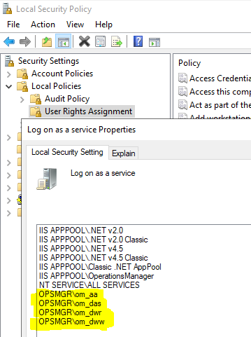 Security changes in SCOM 2019 – Log on as a Service - Kevin