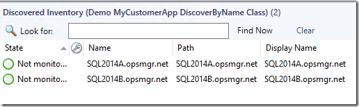 How to discover instances of a SCOM class based on Computer Name
